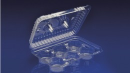 CCK-06L<br></br> 6 CELL CUPCAKE CLEAR HINGED CONTAINER / LOW DOME<br><br>6 Tiers x 4 cases per tier = 24 cases per pallet