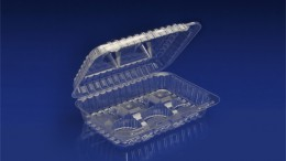 CHC-6CL <br><br> 6 CELL CUPCAKE CONTAINER/LOW PROFILE  <br> <br> 5 Tiers x 9 cases per tier = 45 cases per pallet