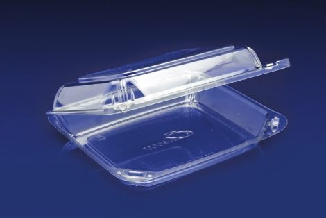 CBC-8X1<br></br>ClearBoost PET 8&#8243; Hinged Container/Shallow
