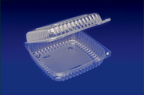 CHC-10X4<br></br>  10″ HINGED CONTAINER 200/cs <br> <br> 5 Tiers x 6 cases per tier = 30 cases per pallet