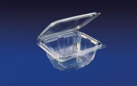 HLD-016 ClearBoost 16oz. Perimeter Seal Hinged Deli Container PET