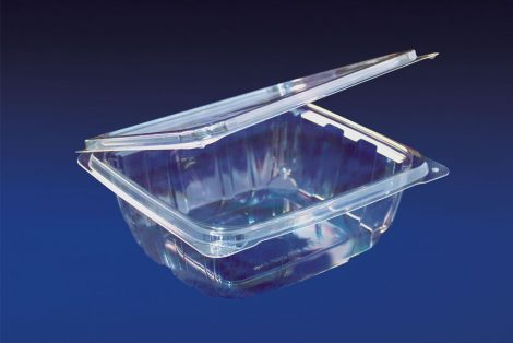 HLD-032 ClearBoost 32oz. Perimeter Seal Hinged Deli Container PET